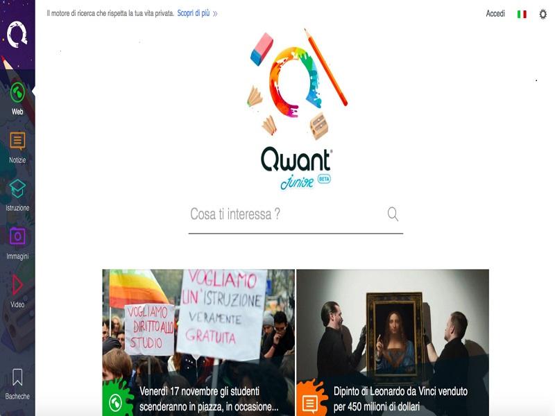 Qwant Junior: il motore di ricerca per i più piccoli