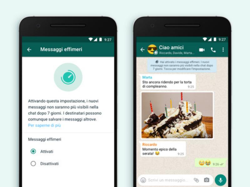 Cosa sono i messaggi effimeri di WhatsApp?